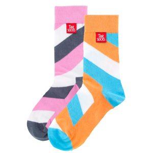 Orangea och rosa strumpor från Tag Socks